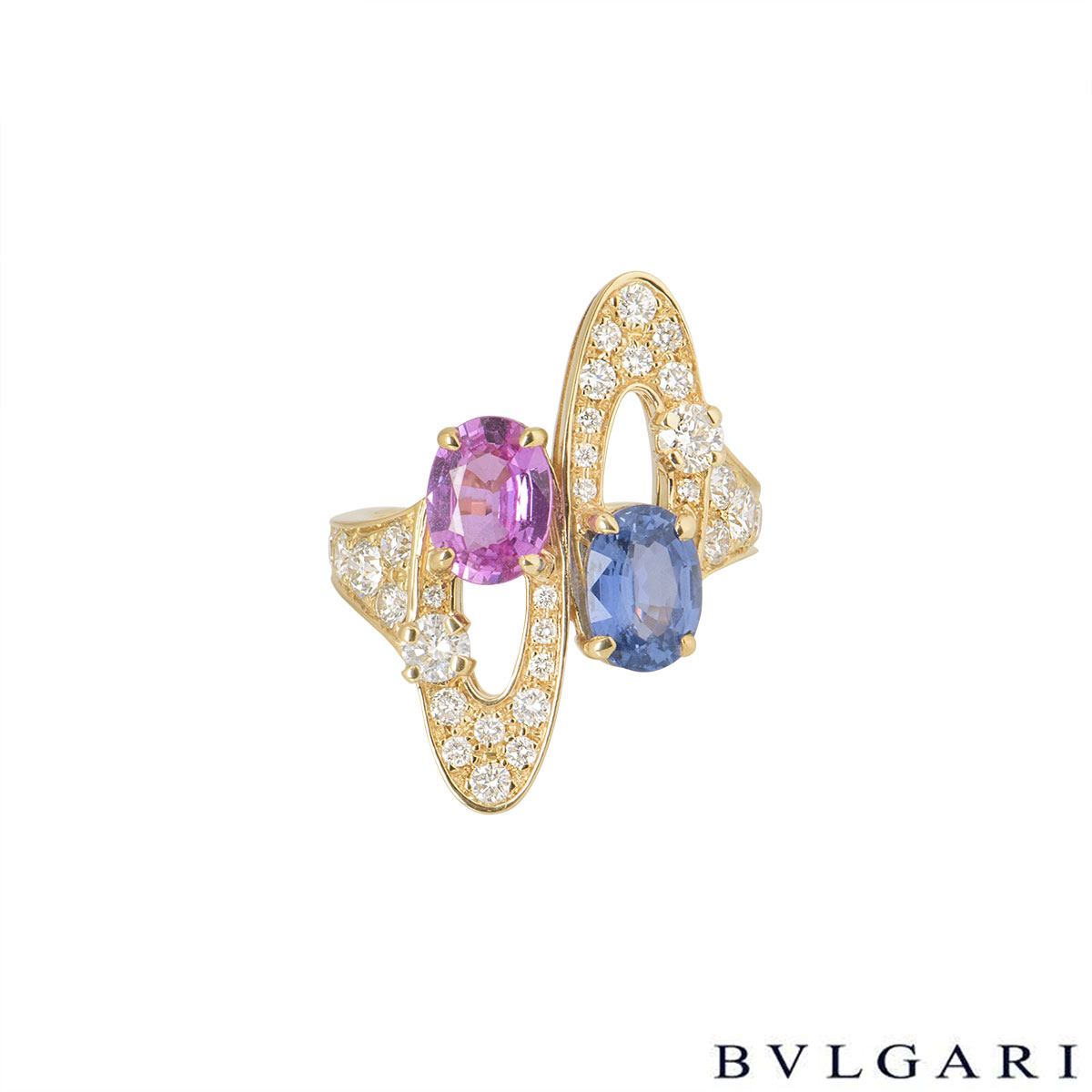 Bvlgari Yellow Gold Diamond & Multi-Gem Ring